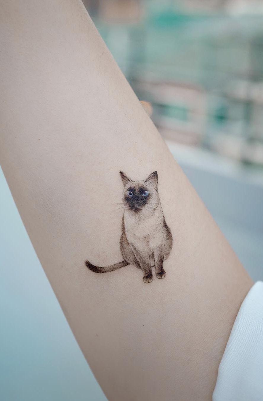 Beauty Lies In Simplicity Awesome Minimalist Tattoos Created At Sol Tattoo Parlor Minimalist C In 2020 Siamese Cat Tattoos Cat Tattoo Designs Minimalist Cat Tattoo