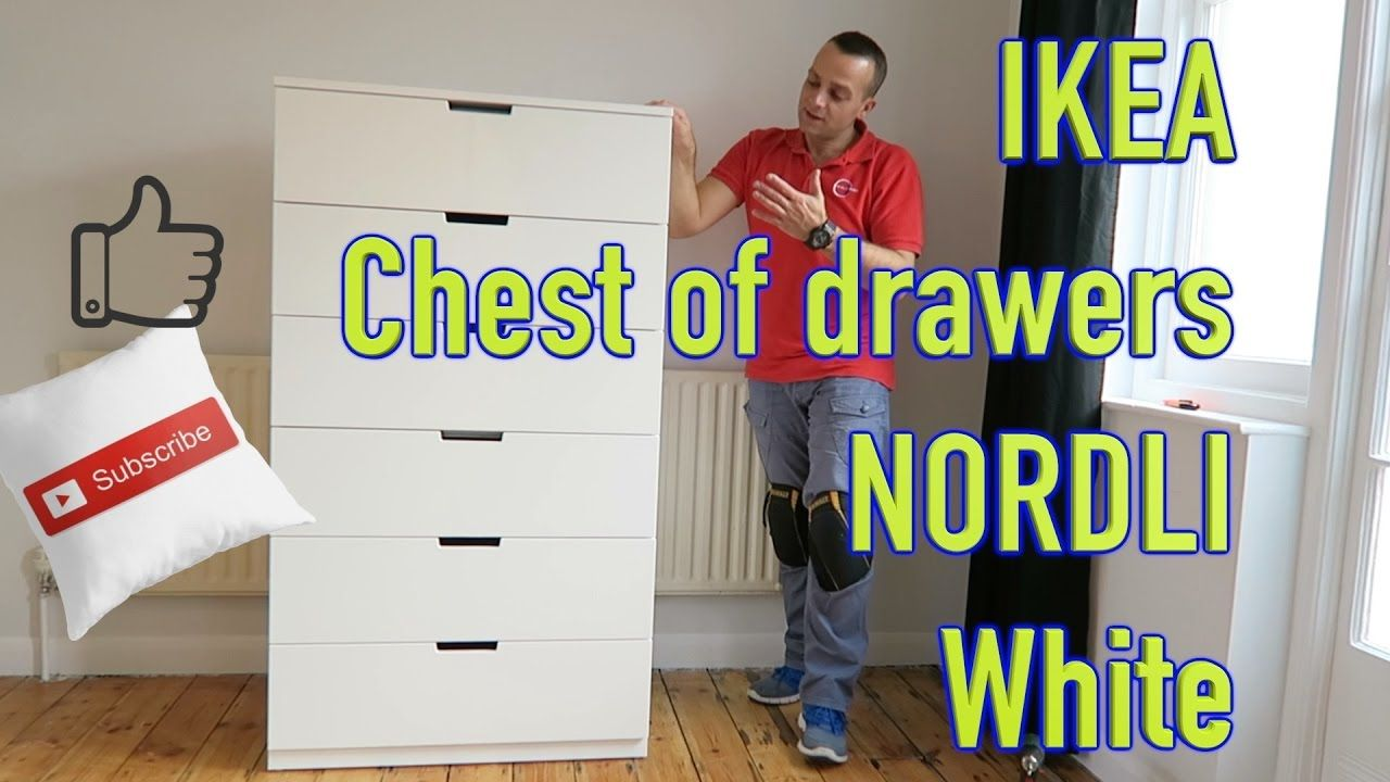 Ikea Chest Of Drawers Nordli White Pp Flat Pack Ikea