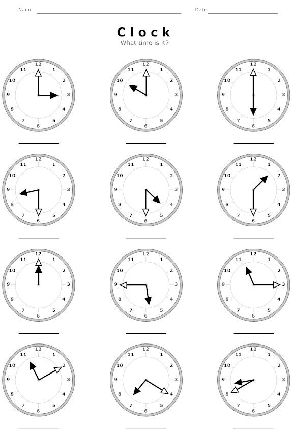 Printable Worksheets maths worksheets primary : Educational Clock Time Worksheet | Education | Pinterest ...