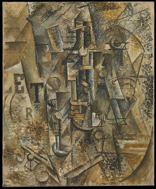 Still Life with a Bottle of Rum  Pablo Picasso (Spanish, Malaga 1881–1973 Mougins, France)  Date: 1911 Medium: Oil on canvas