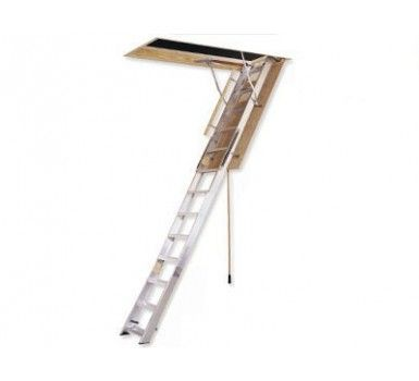 Al228p Aluminum Attic Ladder 22 5 X64 X12 350 Lb Rated Attic Renovation Attic Lighting Attic Flooring