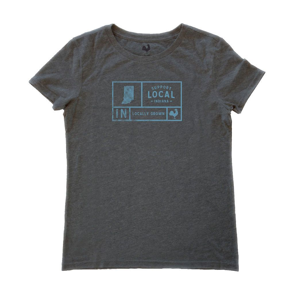 Women's Indiana Support Grid Tee