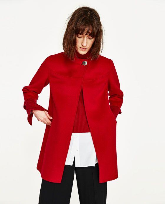 3a1088d83c Immagine 2 di CAPPOTTO BOTTONE di Zara | coat | Fashion, Coat, Zara