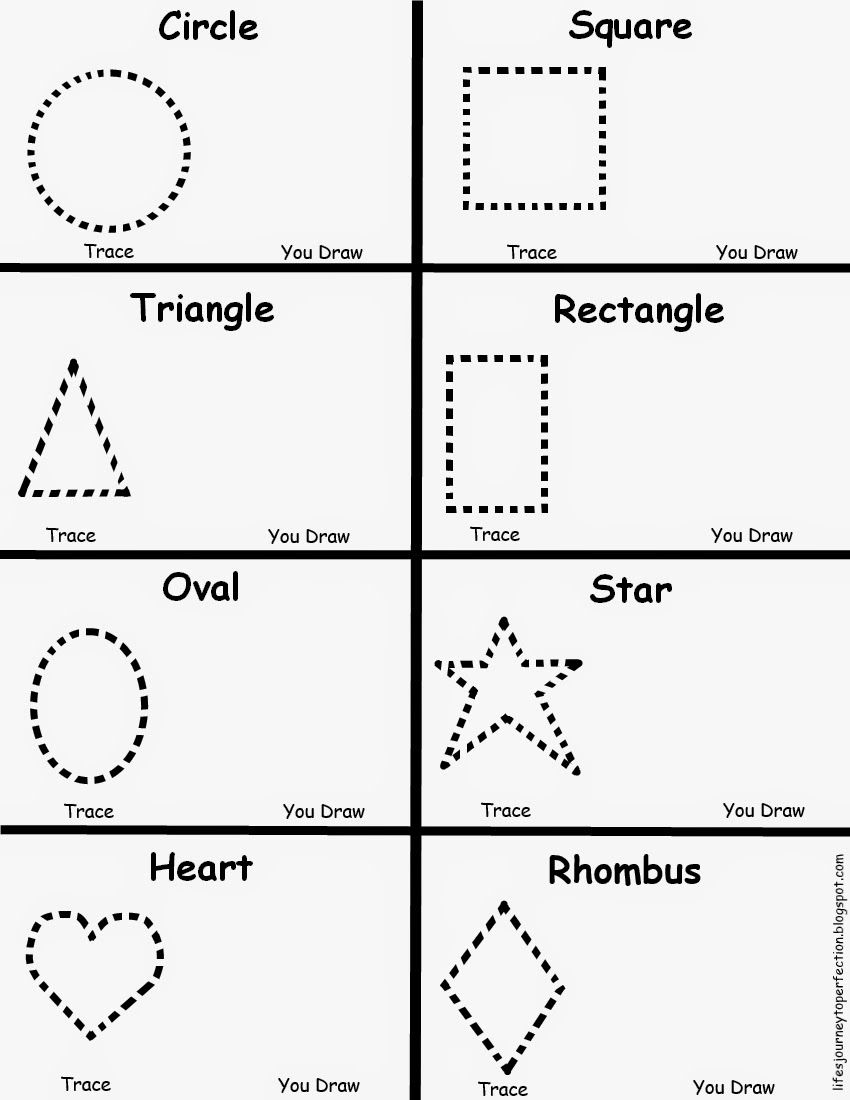 Preschool shapes worksheet lifes journey to perfection for Shape tracing templates