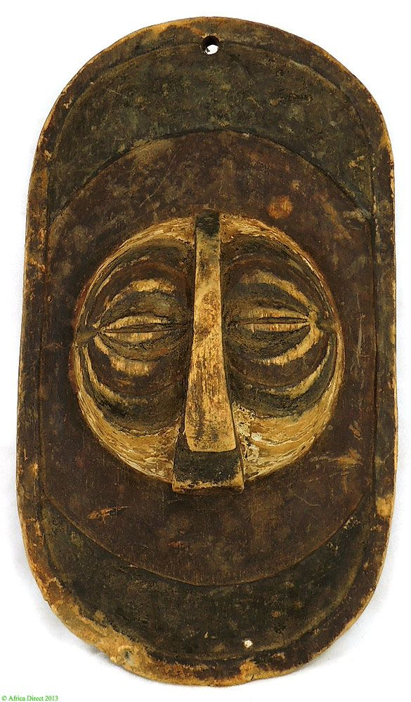 Luba Panel with Round Mask DR Congo