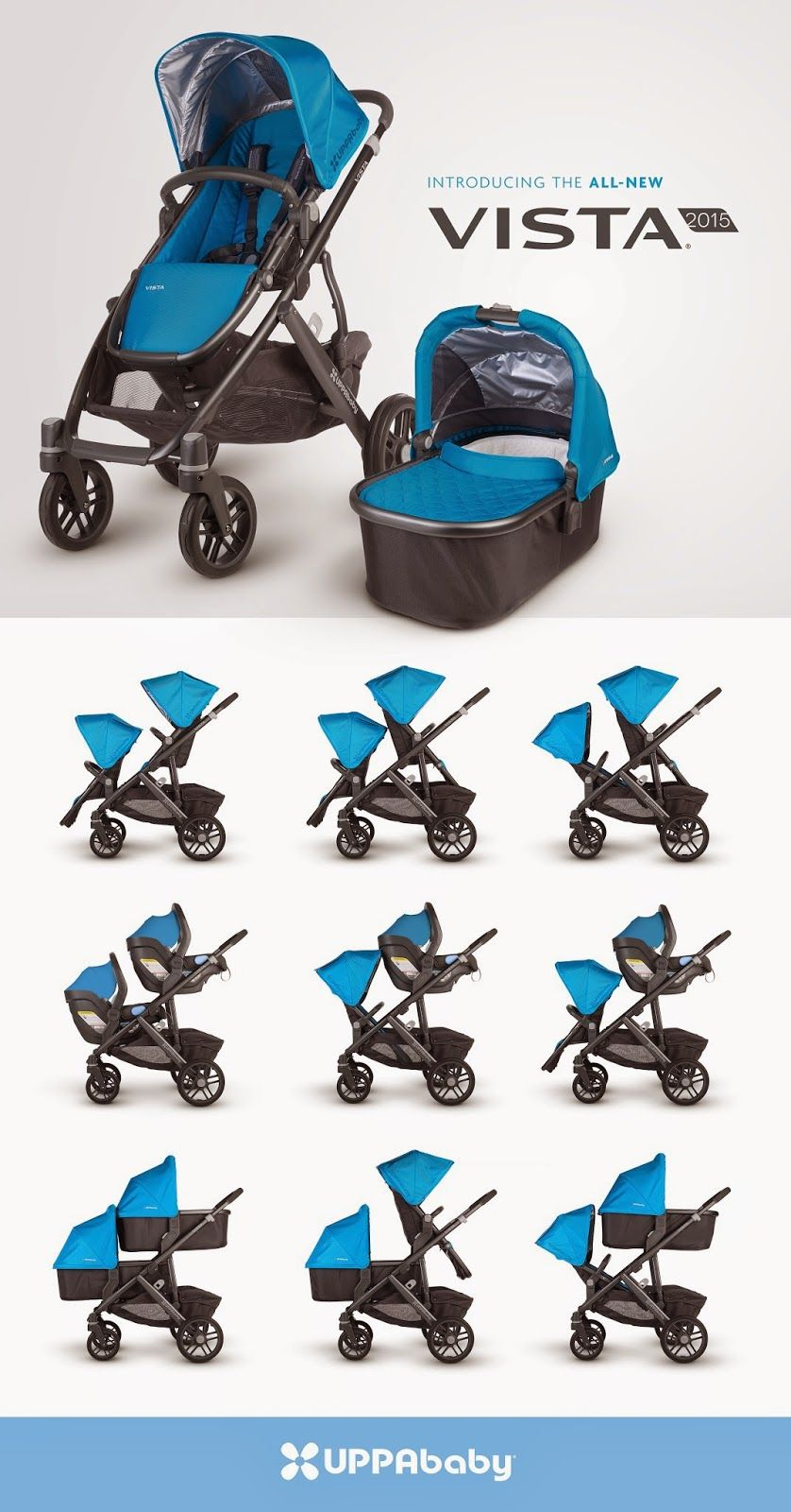 In ALL BLACK uppababy vista 2015! Uppababy vista