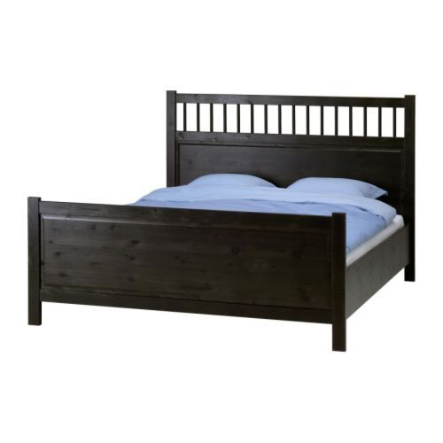 HEMNES Bed frame IKEA Adjustable bed sides allow the use of ...