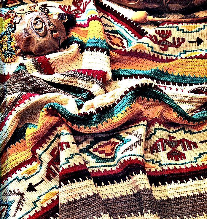 Crochet Blanket Pattern - Indian Summer Afghan by PearlShoreCat on ...
