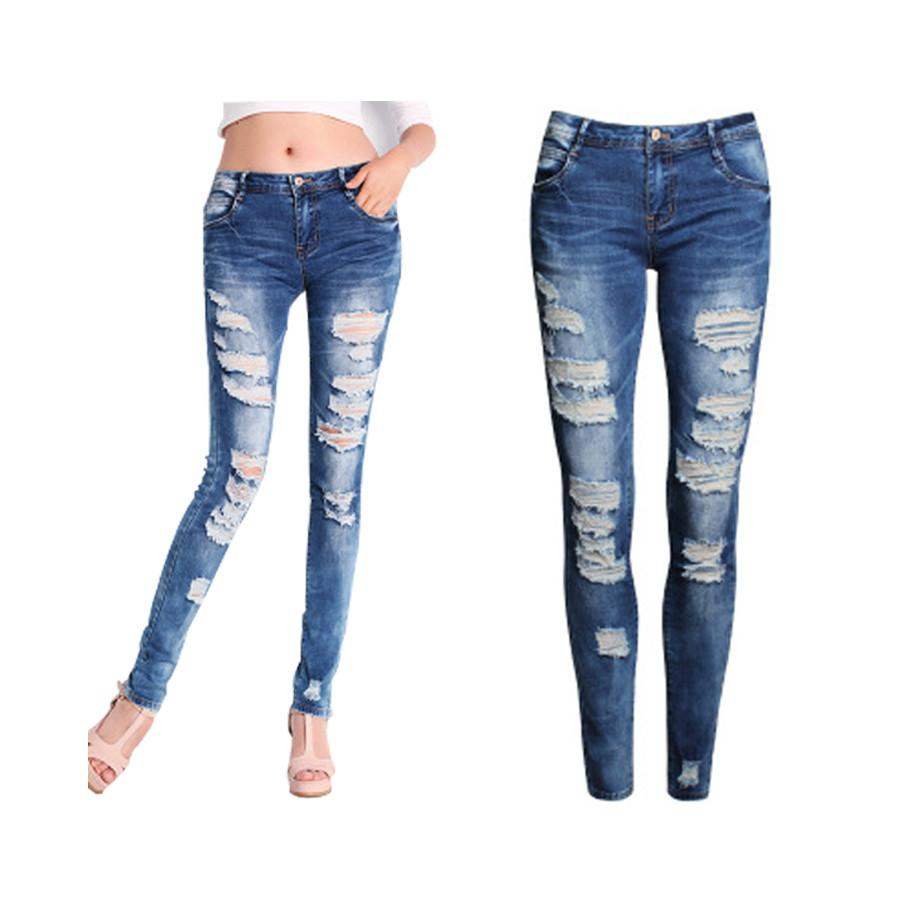 f870a5fa8b6 Skinny Jeans Women 2016 New Summer Style Women Jeans Fashion Holes Denim  Harem Pants Ripped Jeans Woman