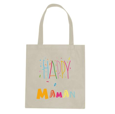 tote bag happy maman cadeaux naissance cadeau. Black Bedroom Furniture Sets. Home Design Ideas