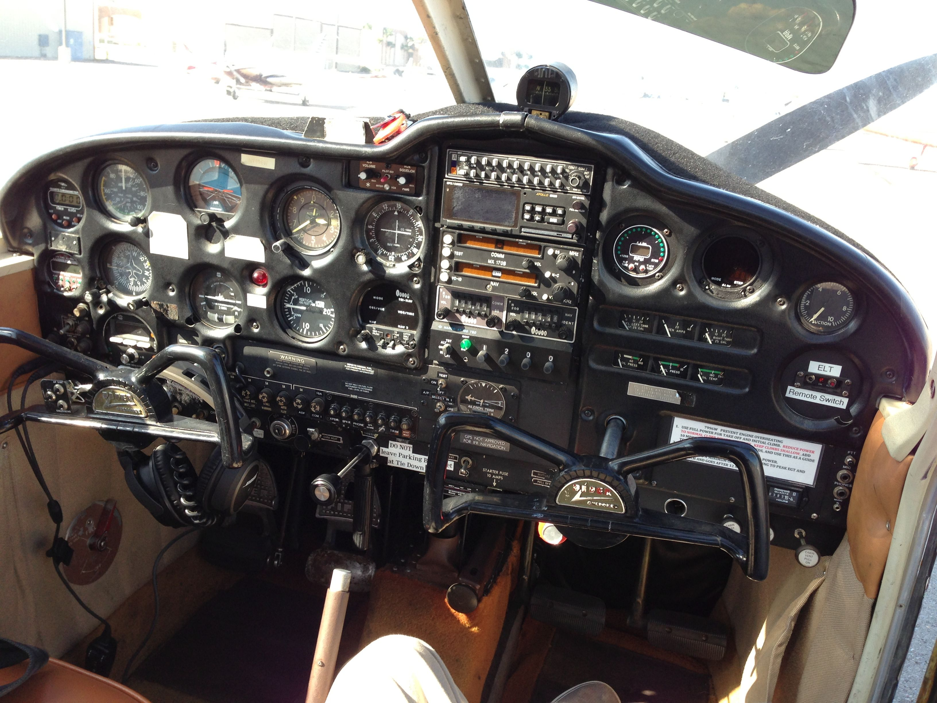 Piper Cherokee Cockpit | Aviation | Airplane, Aircraft, Aviation