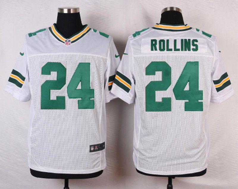 Green Bay Packers #24 Quinten Rollins WhiteMen's Elite