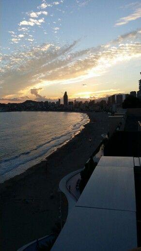 View from sun terrace hotel villa mar benidorm
