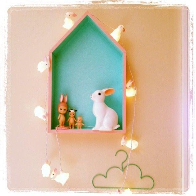Lil' Miss Mabel house shelf http://lilmissmabel.com