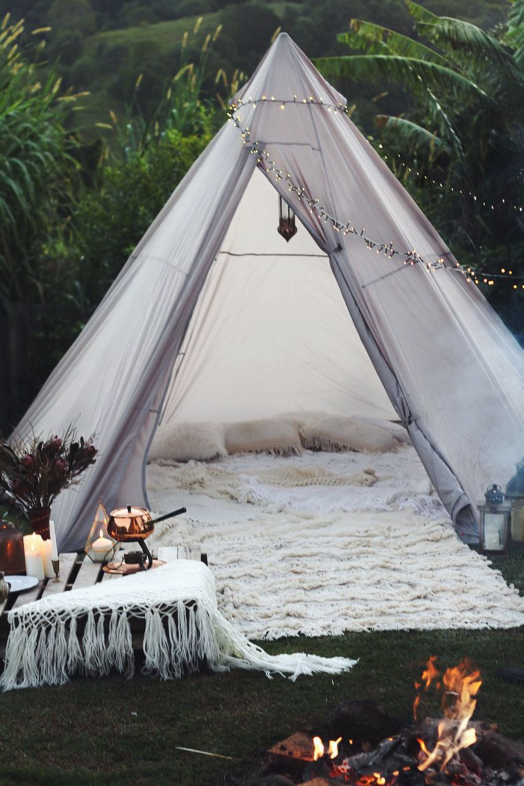 Single Post Diy Tent Boho Tent Backyard Tent