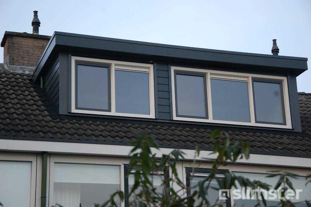 Afbeeldingsresultaat voor dakkapel antraciet wit dakkapel