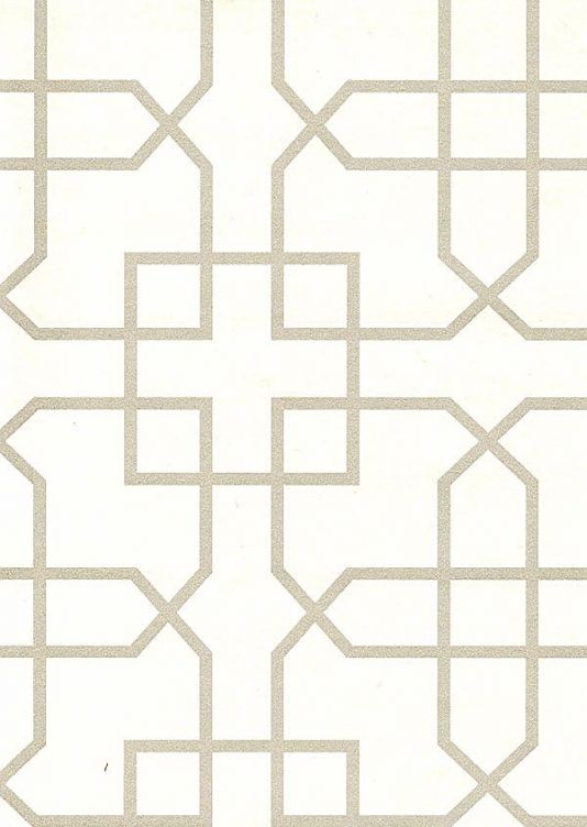 Siam trellis wallpaper off white wallpaper with silver trellis design