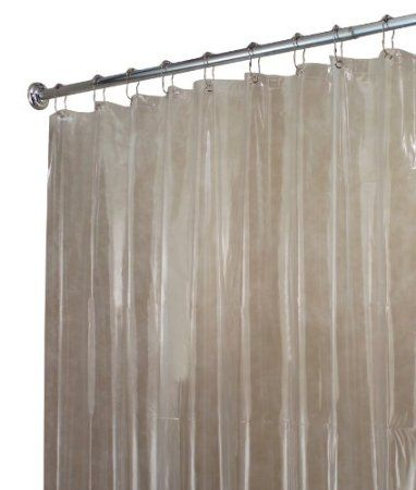 Amazon Com Interdesign X Long Shower Curtain Liner Clear 10