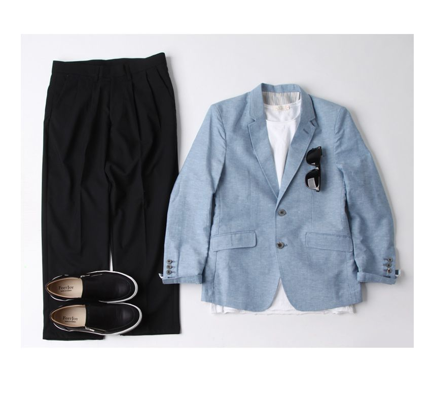 깔끔한 스타일 연출에 좋은 린넨 자켓 마이-jacket20 - [존클락]30대 남자옷쇼핑몰, 깔끔한 캐쥬얼 데일리룩, 추천코디