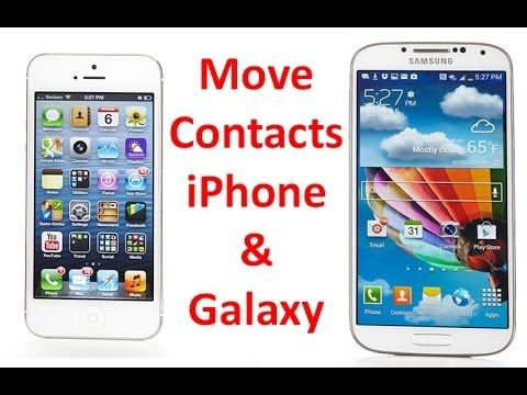 Transfer iPhone Contacts to Samsung Galaxy S4 S3 Using a