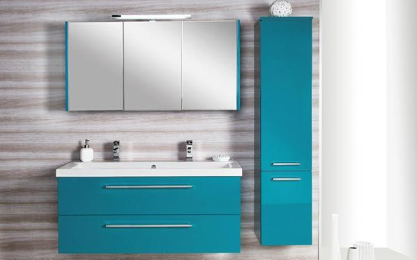 Look for different colors like granite i like drawers - Meuble salle de bain turquoise ...