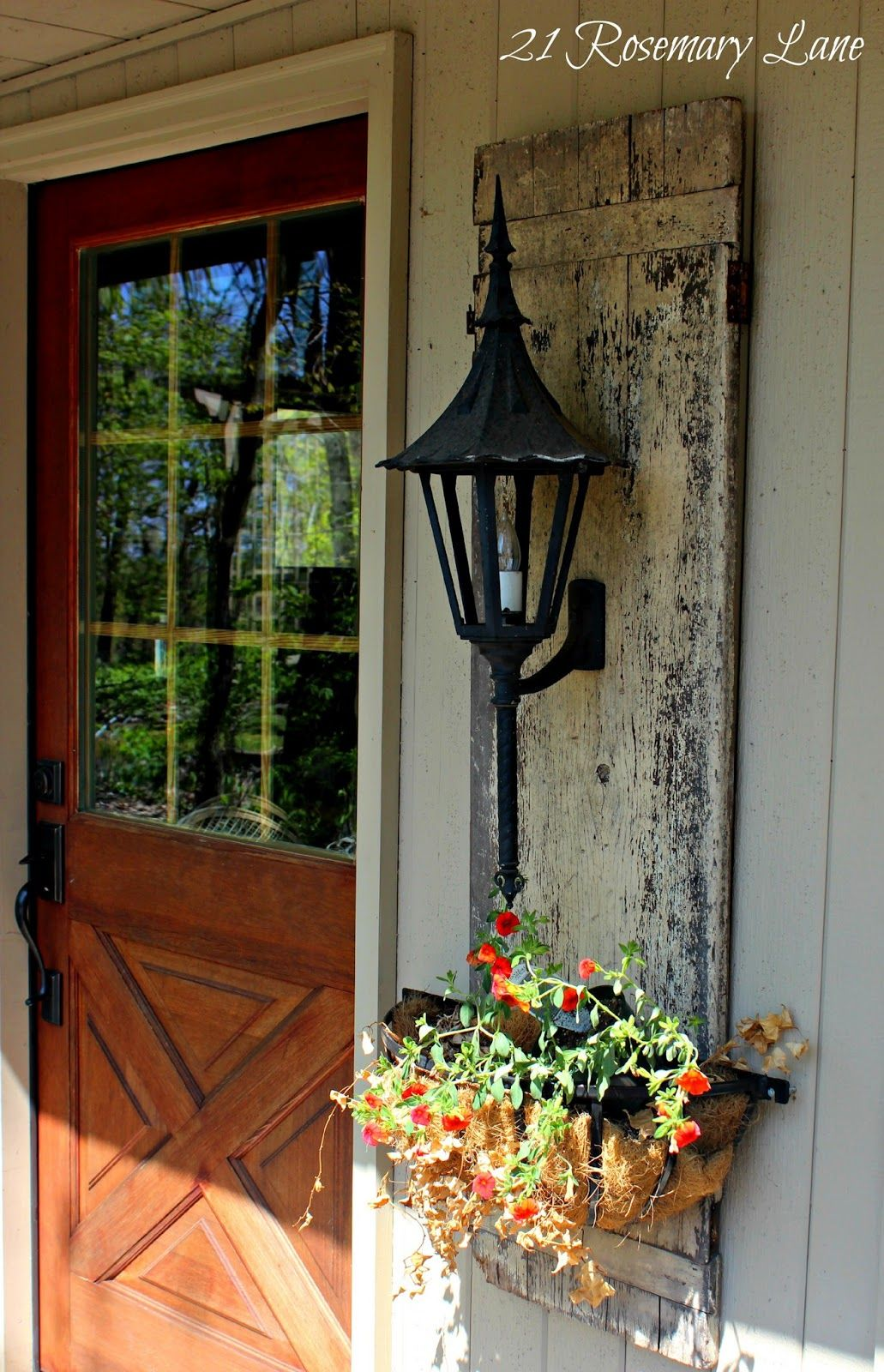 love the planter hanging next to the door | Porches | Pinterest ...