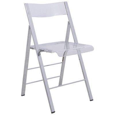 Leisuremod Menno Mo Folding Chair Color Transparent Clear Folding Chair Plastic Folding Chairs Chair