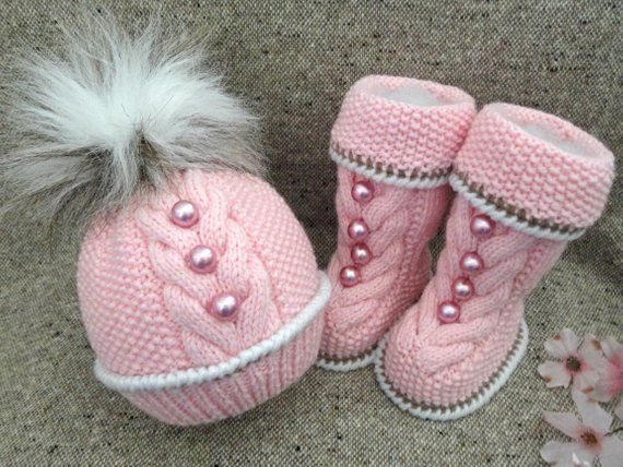 771a86696 Knitting PATTERN for Babies Knitted Baby Set Baby Shoes Baby Beanie ...