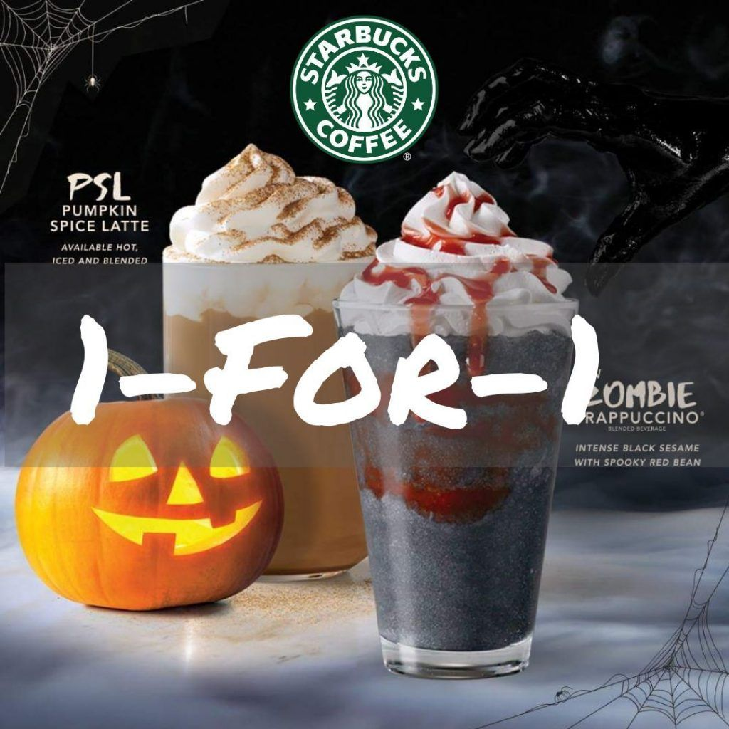 Starbucks Singapore 1 For 1 All Venti Handcrafted Drinks