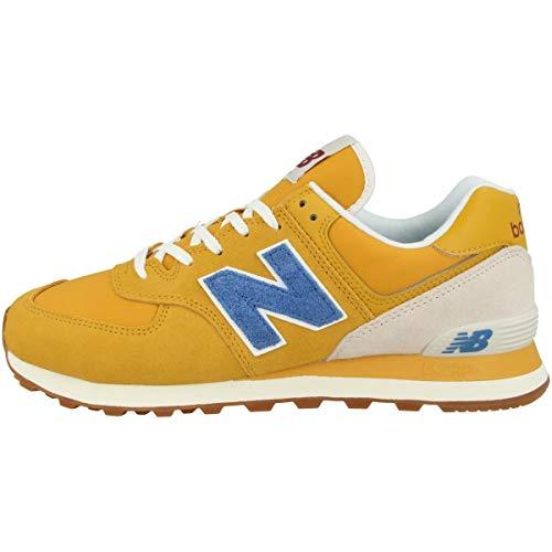 new balance 574 amarillo azul