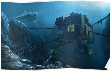 Subnautica Alien Base Indie Game Poster By Merk Pixels In 2019