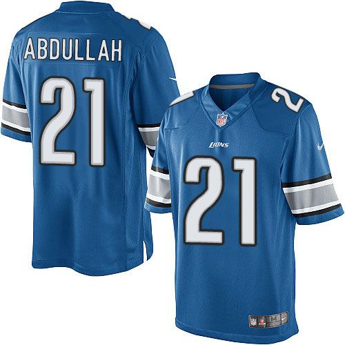 more photos e4970 9921a Nike Elite Ameer Abdullah Light Blue Youth Jersey - Detroit ...