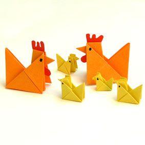 h hnerfamilie bastelidee origami ostern osternest. Black Bedroom Furniture Sets. Home Design Ideas