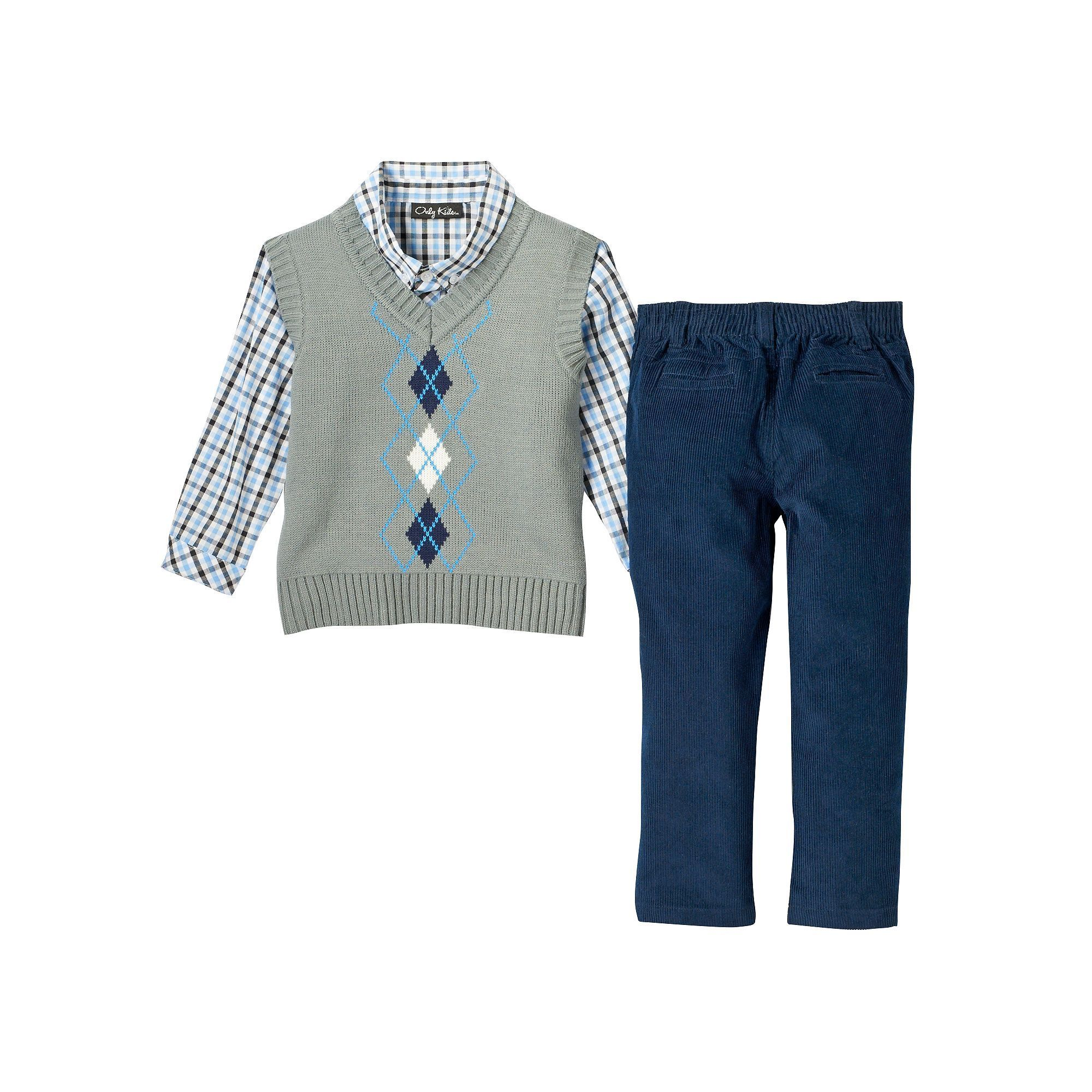 00cba1baa Baby Boy Only Kids Apparel Argyle Sweater Vest