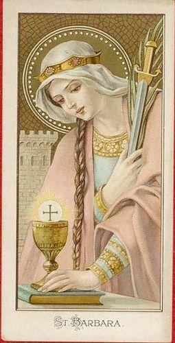 St Barbara Holy Card Image Pieuse Heiligenbild Vintage Holy Cards Catholic Images Catholic Art