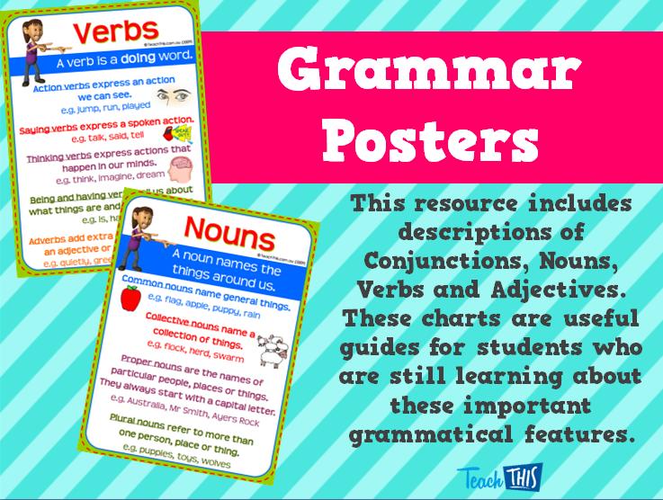 Grammar Posters | English | Pinterest | Grammar posters, Homeschool ...
