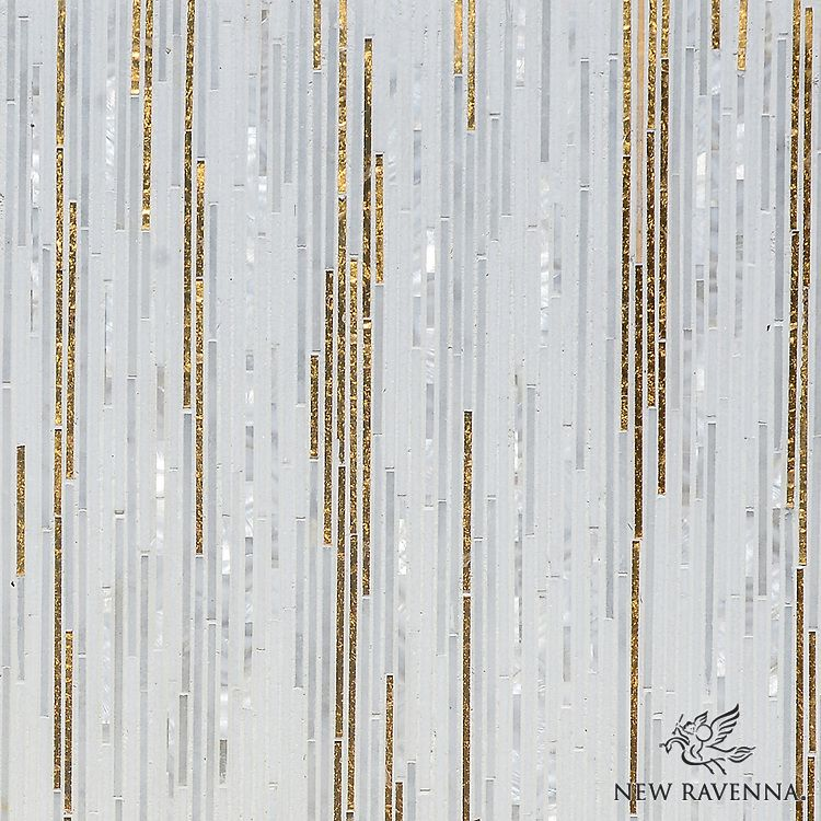 Zebrano A Hand Cut Mosaic Shown In 24k Gold Glass Shell