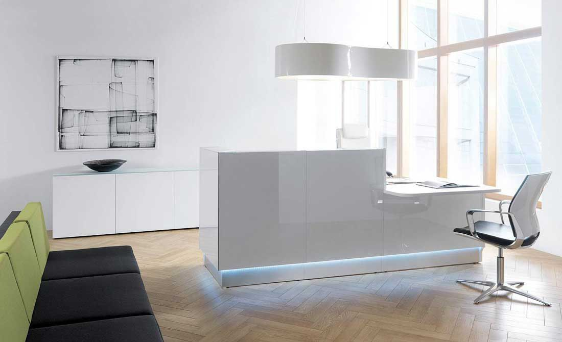 Modern Office Furniture Reception Desk Beauteous Design Decoration