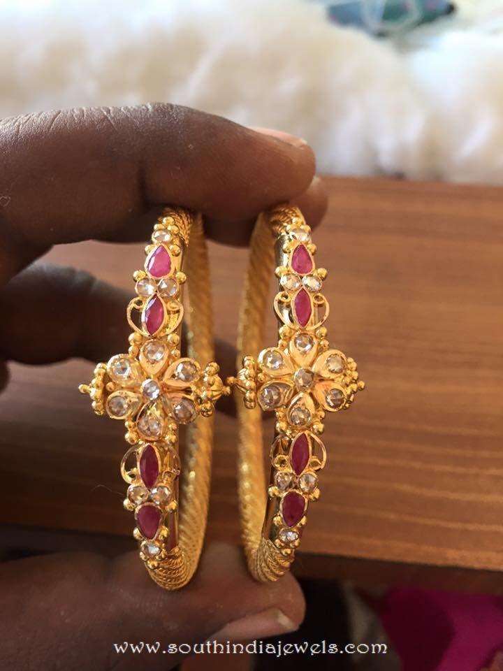 Gold Ruby Bangle From Veerabhadra Jewellery