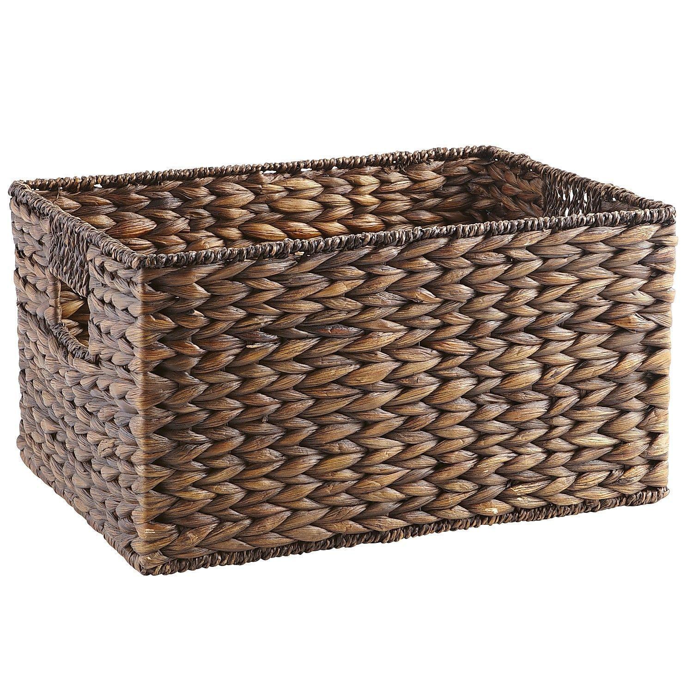 Carson Espresso Wicker Medium Shelf Storage Baskets Brown