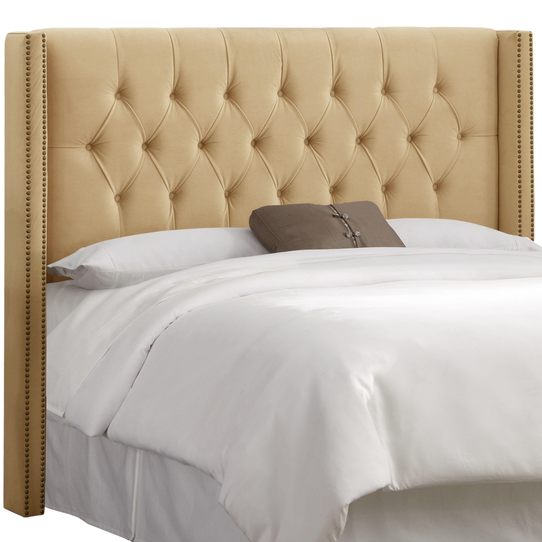 skyline dimond upholstered linen in velvet skylar king tufted rched bedroom queen wingback black tll grey cupboard bed furniture hedbord diamond