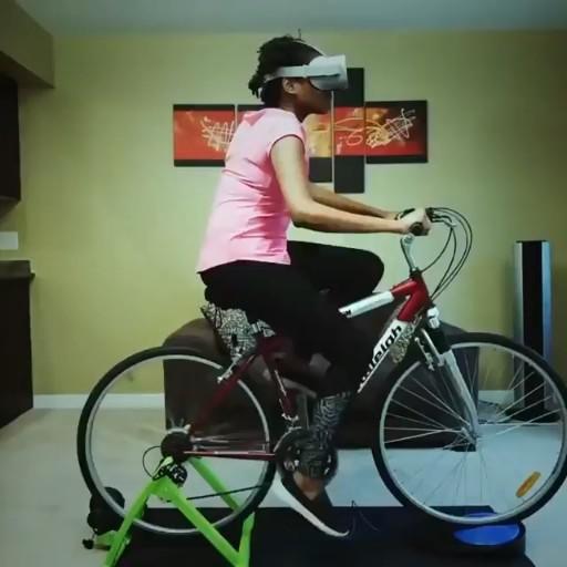 VR cycling 😍😍
