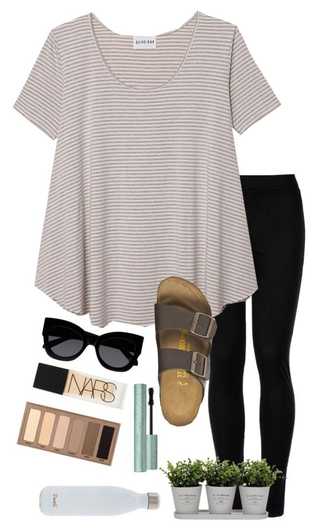 """""""I wish I could own every set we make on poly"""" by caroline-barker ❤ liked on Polyvore featuring Wolford, Olive + Oak, Birkenstock, Torre & Tagus, Karen Walker, S'well, NARS Cosmetics, Urban Decay and Too Faced Cosmetics"""