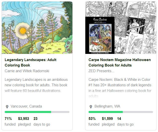 Adult Coloring Books Featured At Kickstarter