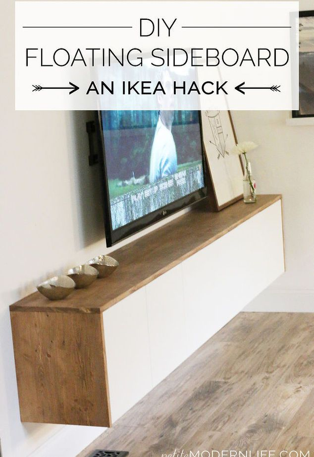 Design My Own Living Room Online Free: DIY Floating Sideboard / Credenza