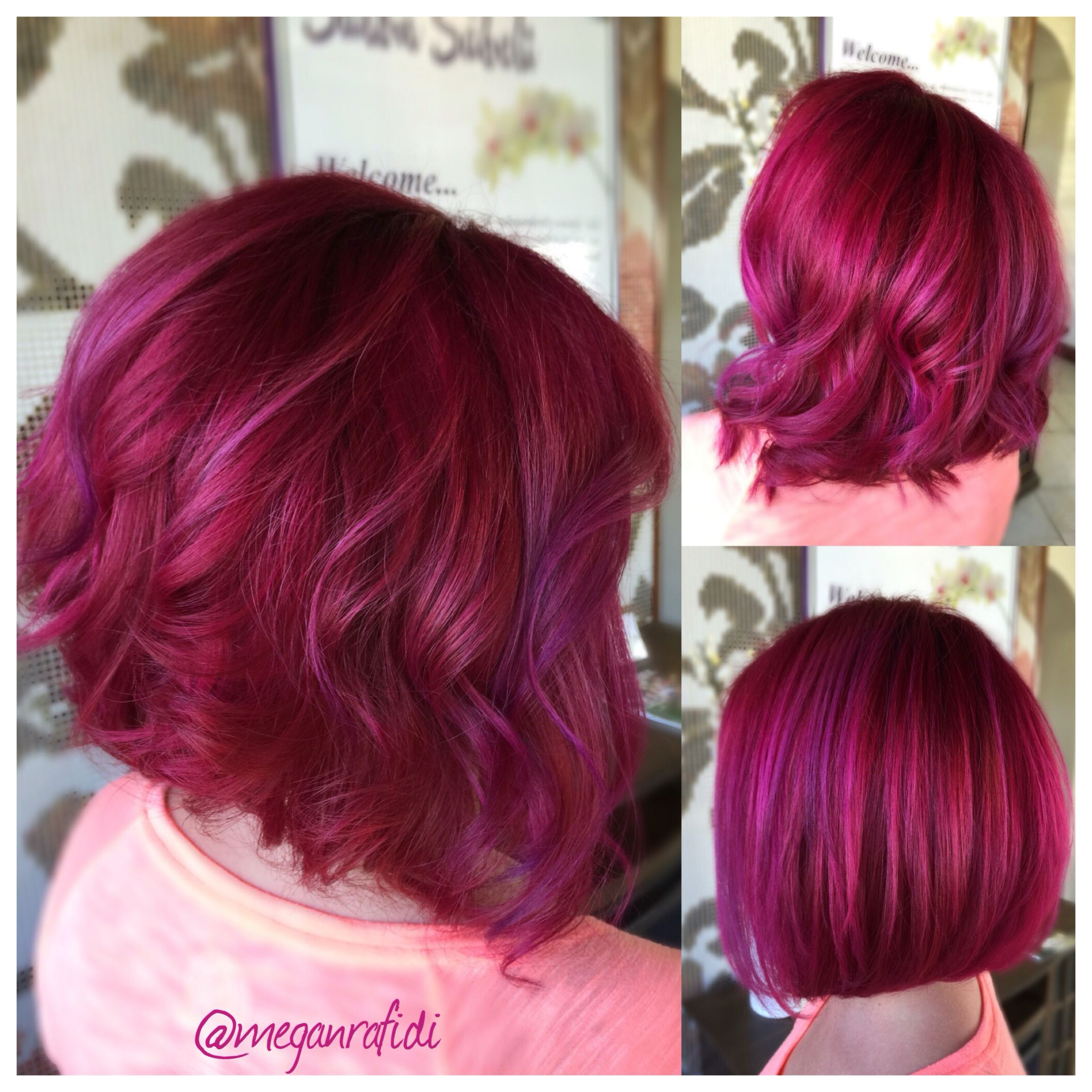 Igora Royal 9 98 On The Roots And A Blend Of Joico Intensity Magenta
