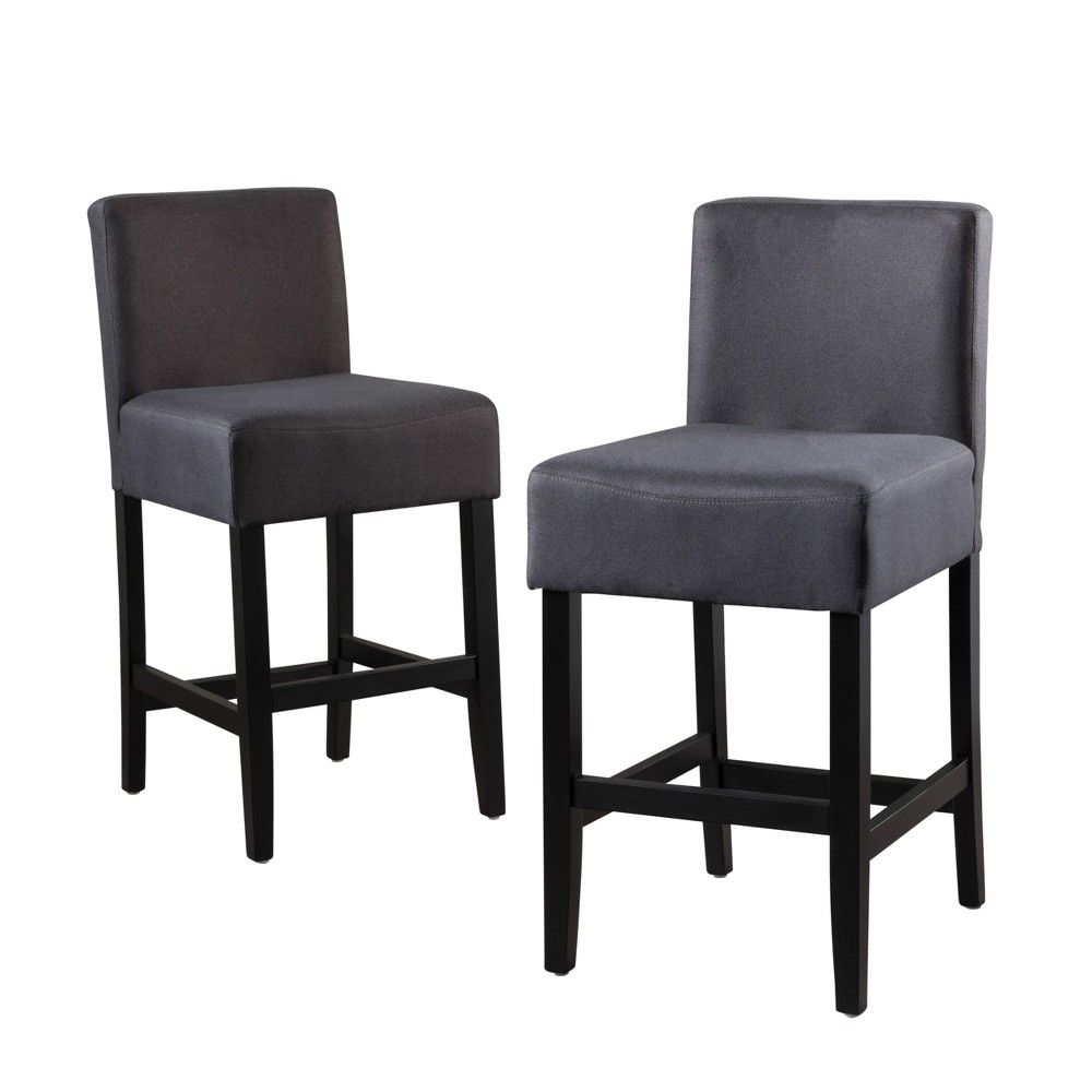 26 Portman Bonded Leather Counter Stool Brown Set Of 2