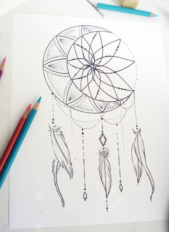 dream catcher pack - adult coloring pages - instant download pdf