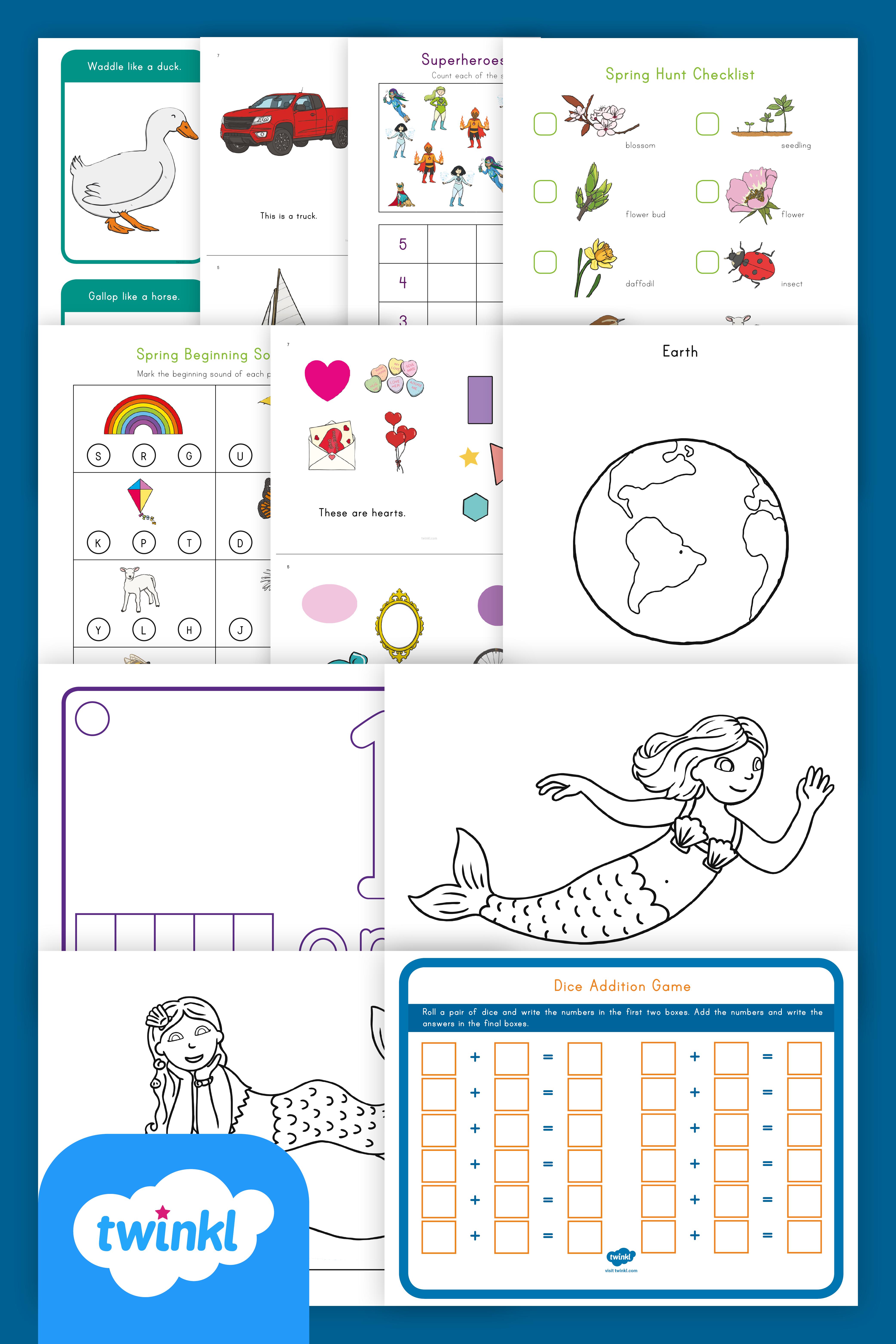 Free Kindergarten School Closure Take Home Activity Packet