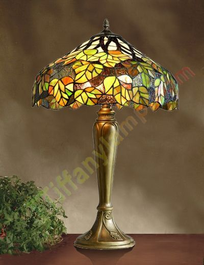 loxton lighting tiffany green maple table lamp t16114 living room